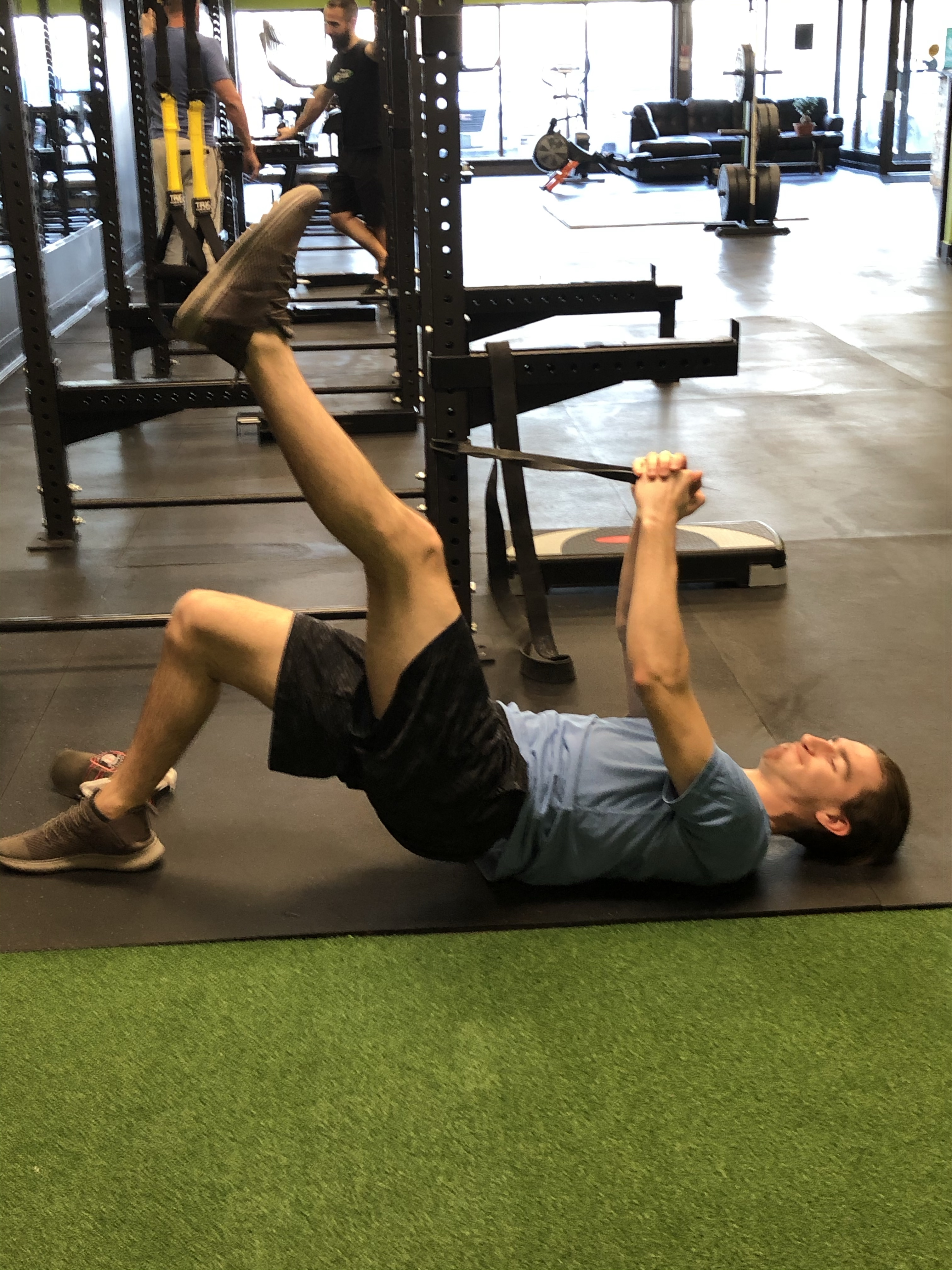 Single Leg Bridge with Anti Rotation Press